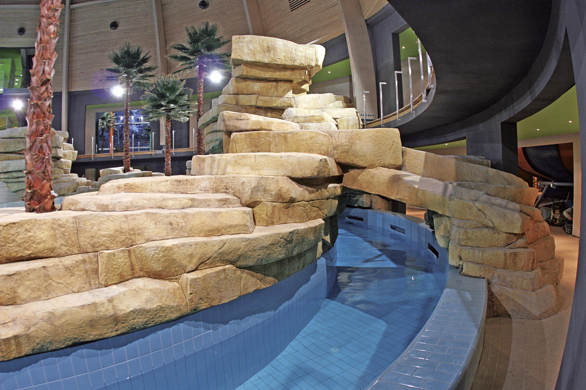 Rocce artificiali per parchi termali