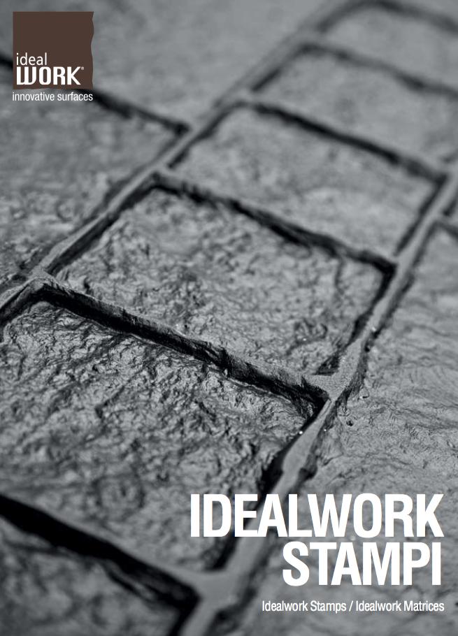 Pavimento in cemento stampato, per esterni e interni - Ideal Work