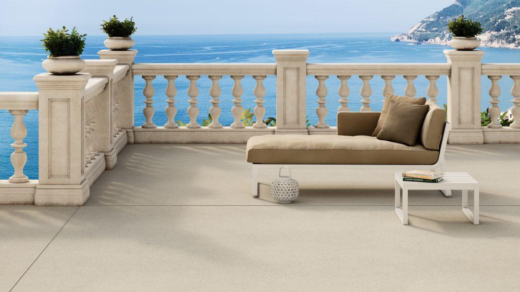Pavimentazione veneziana lixio terrazza sul mare