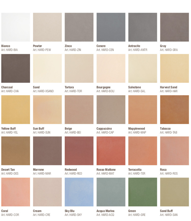 colori del pavimento in cemento stampato