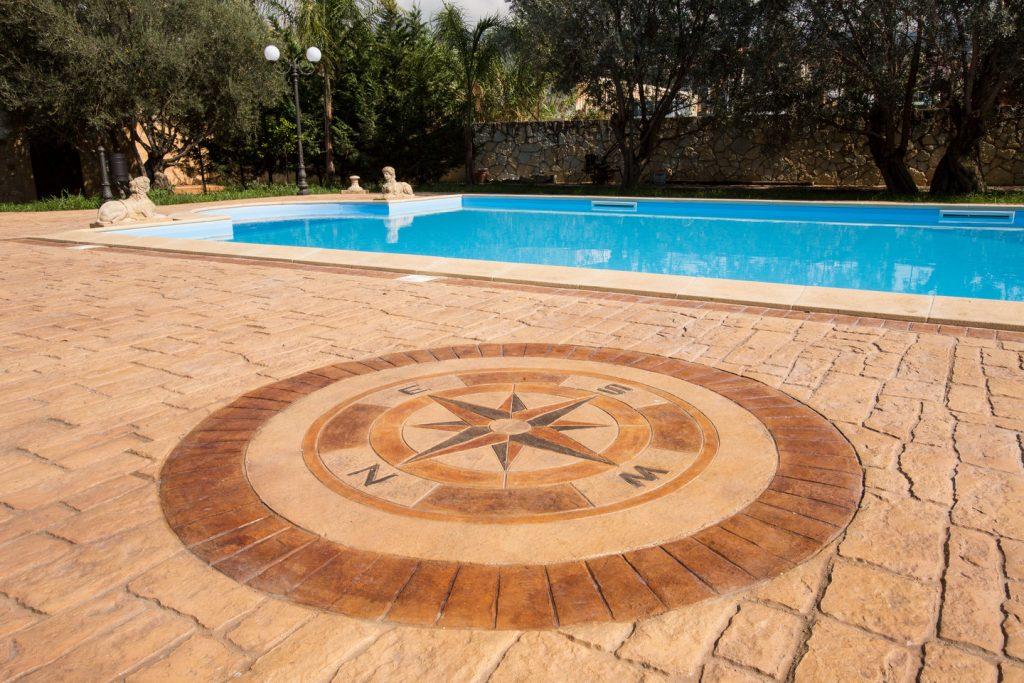 Pavimento in cemento stampato per esterni idealwork pavimenti